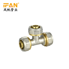 PEX Equal Tee 16mm-32mm PEX Brass Fitting Tee PEX-AL-PEX Brass Tee Brass Compression Fittings