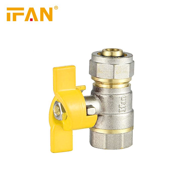 16mm -20mm Gas Valve 1/2inch 3/4inch for PEX Aluminum Pipe