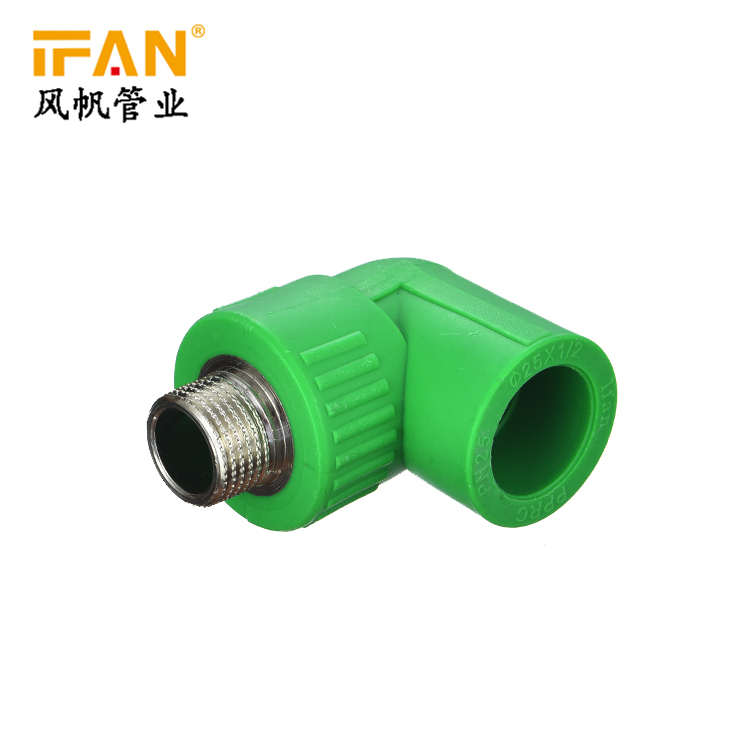 PPR Male Elbow 20×1/2M 3/4M 1inch 20mm 25mm 32mm PPR Fitting 90 Degree Elbow for PPR Pipe