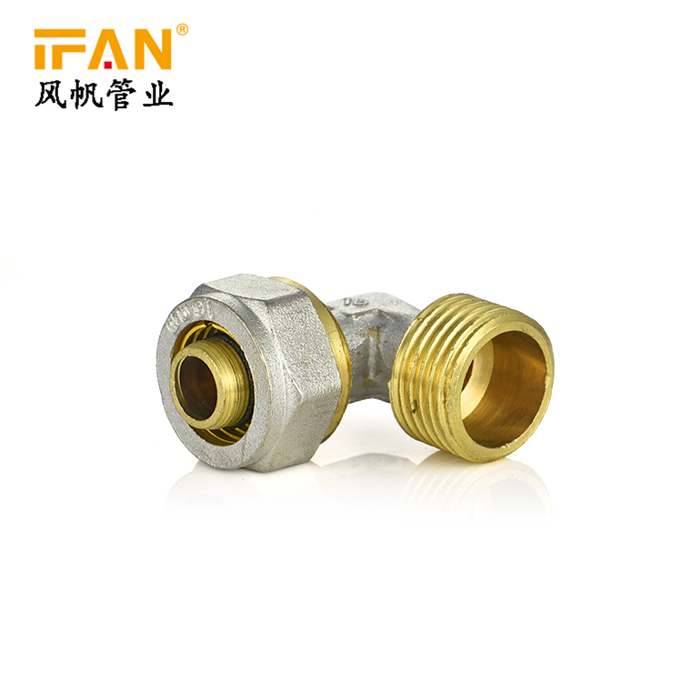 "PEX Male Elbow 90degree Elbow 16*1/2"" Brass Elbow 16mm 18mm 32mm Pex Brass Fitting"