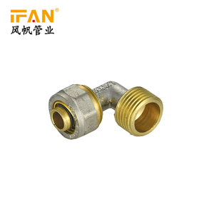 Pex Plastic Pipe Available Size Double Color Water System Supply Male Elbow Plumbing Materials Brass Fittings