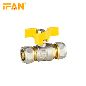 16*16mm Gas Valve 18*18mm PEX Valve 20*20mm Brass Valve for Gas pipe