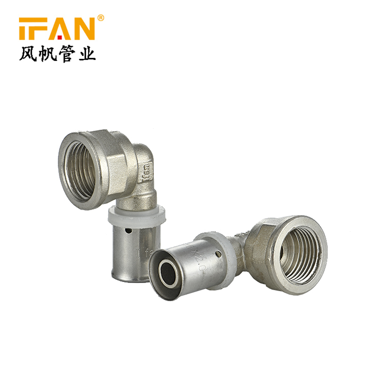 "16mm*1/2"" 3/4"" 1"" PEX Press Fitting Brass Fitting Female Elbow for PEX-AL-PEX Pipe"