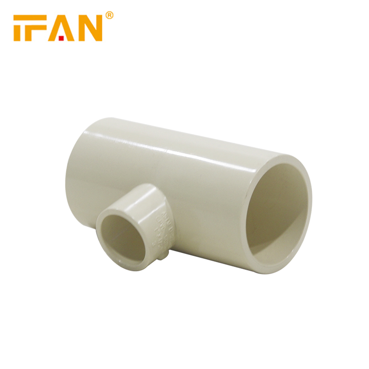 Reduce Tee CPVC Pipes Fittings SDR11 ASTM 2846 CPVC Manufacturers for Hot Water