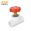 PPR Stop Valve White Color PPR Fitting 20mm-63mm PPR Pipes and fittings