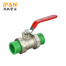 PPR Brass Ball Valve PN25 PPR Fittings 20mm-63mm Green Color PPR Valves
