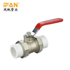 PPR Brass Ball Valve PN25 1/2inch 3/4inch 25mm 32mm White Color PPR Pipes fittings