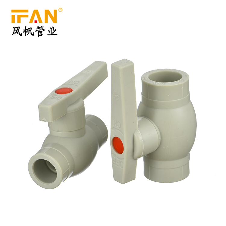 PPR Ball Valve Iron core plumbing materials high quality buy ppr pipe plastic tube pipe fitting