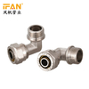 Ifan Wholesale High Quality Pex Brass Fitting Male Threaded Elbow Brass Plumbing Material For Gas Pipeline