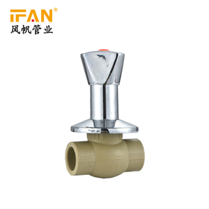 PPR Stop Valve Chrome gate valve plastic tube pipe fitting 20-32mm ppr pipe fitting
